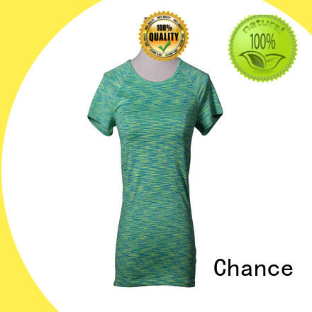 Chance short sleeve cotton yoga clothes manufacturer for exercise