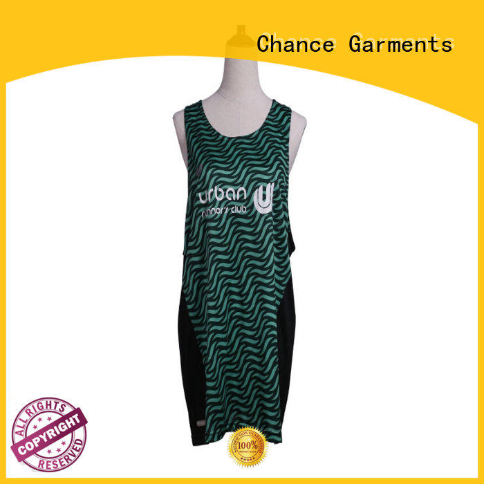 Chance running clothes customized for playground