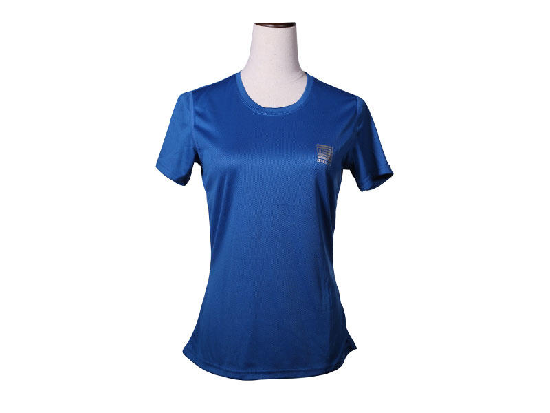 Women 100% Polyester Dry Fit Breathable Short Sleeves running T Shirt