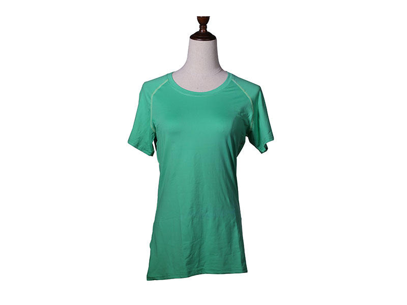 Round Neck Women Sports Shirt Quick Dry Fitness Gym Yoga T Shirt