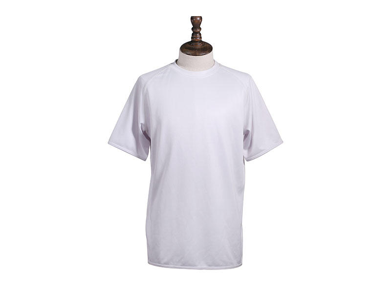 Polyester Knitted O-Neck T Shirt Custom Short Sleeve Printing