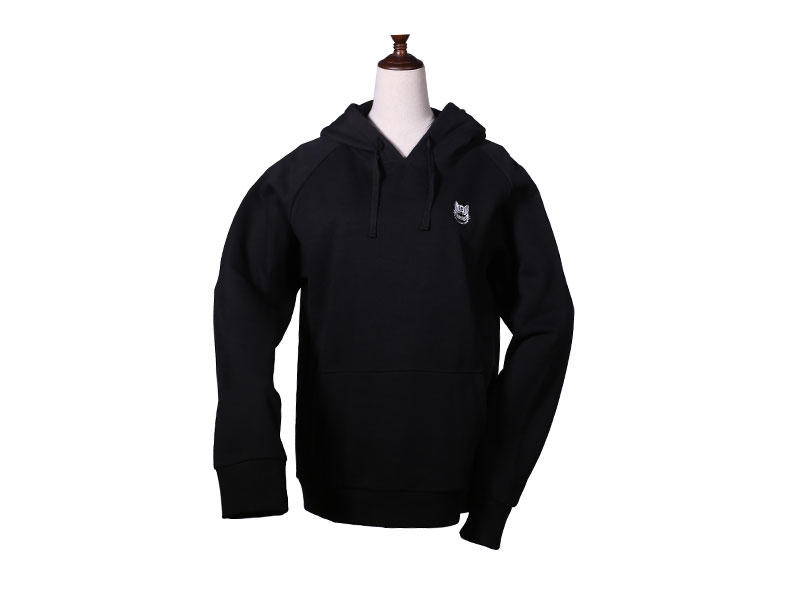 Mens Hooded Sweatshirts Brushed Fleece Embroidery with Hood