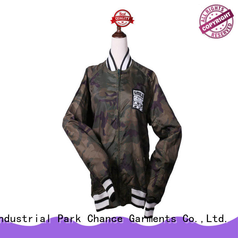 Chance long sleeve windbreak jacket with good price for outdoor