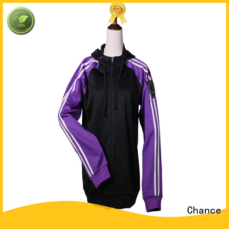 Chance polyester mens warm up suits design for gym