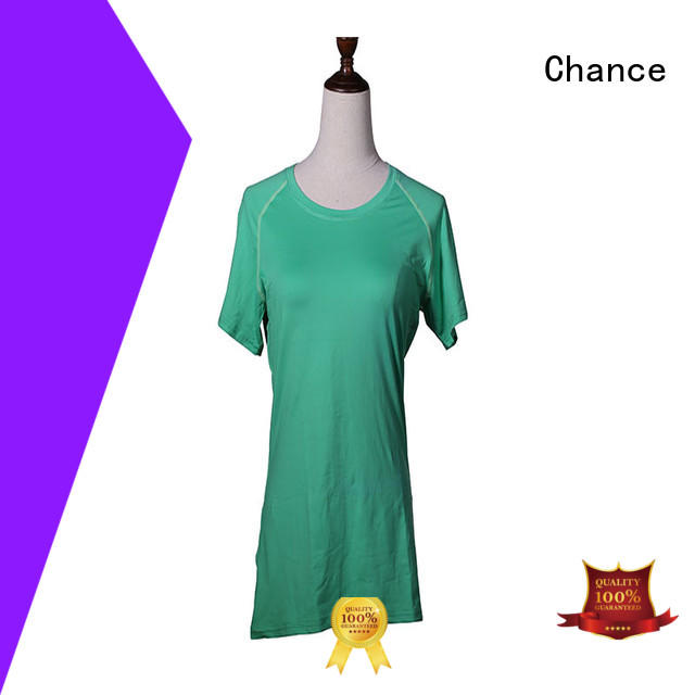 short sleeve cotton yoga clothes customized for women