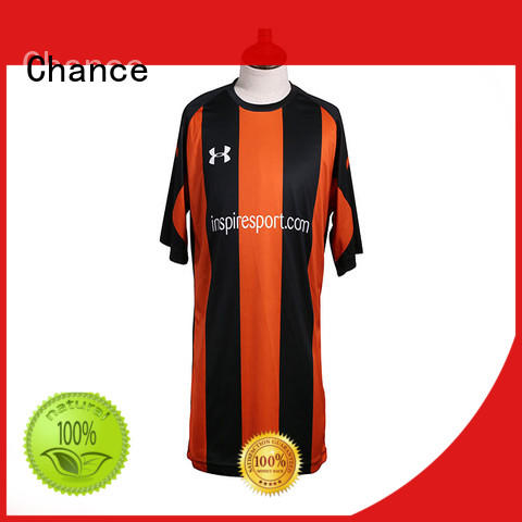 Chance polyester custom football jerseys supplier for road cycling