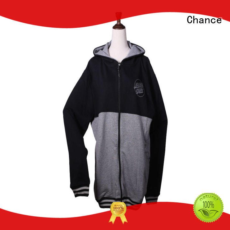 Chance brushed fleece grey sweatshirt supplier for sports