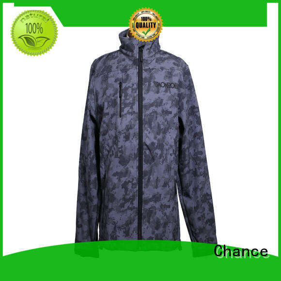 Chance full zipper polyester jacket waterproof with good price for sport