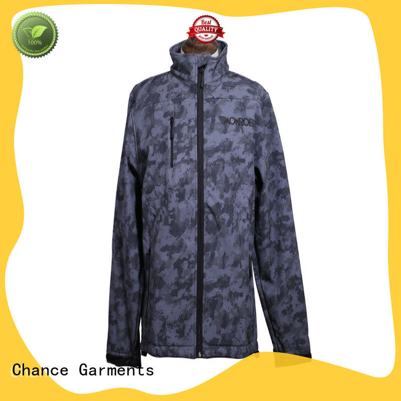 Chance softshell jacket customized for winter