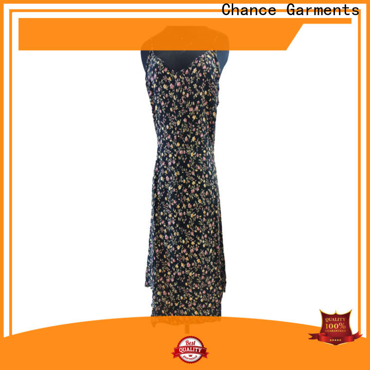 Chance casual floral dresses supplier for outdoor