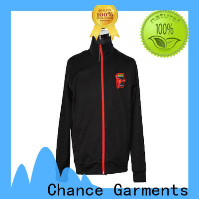 Chance long sleeve polyester jacket waterproof customized for outdoor