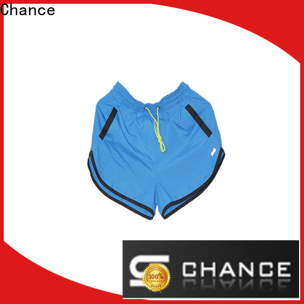 Chance polyester training shorts supplier for holiday