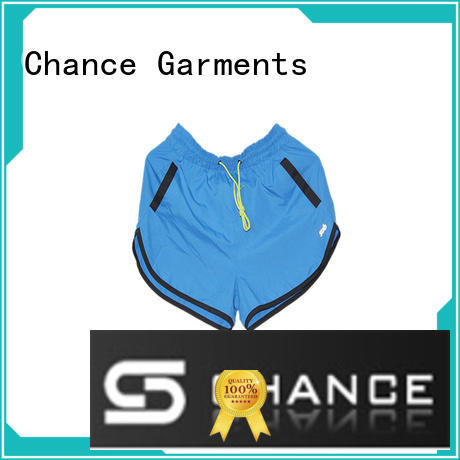 Chance comfortable training shorts manufacturer for sports