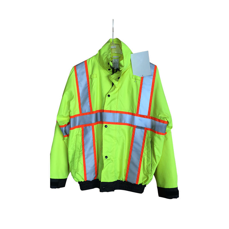 100% Polyester Oxford Fluorescent Working Uniform High Visibility Heavy Duty Water Resistant Outdoor Work Safety Workwear