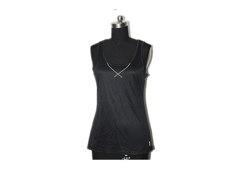 100% Polyester Running Sport Vest Tank Tops Ladies Outdoor Sport Clothes With Good Permeability