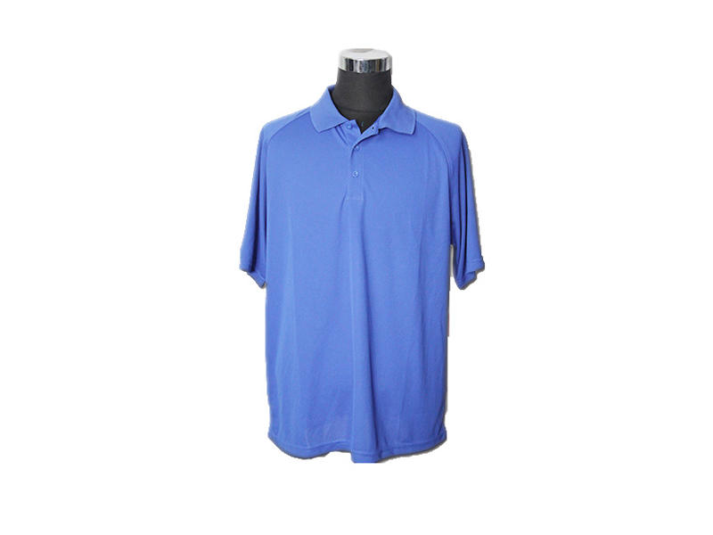 100% Cotton Navy Blue Collared Shirt Lightweight Polo T Shirt For Men