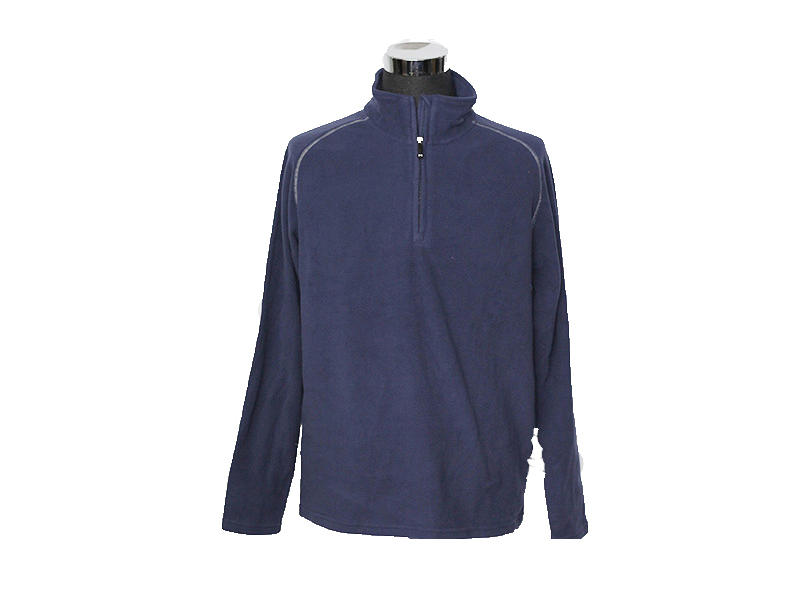 Mens 1/4 Zip Pullover Taslon Performance Top, Sports Sweatshirt Jacket