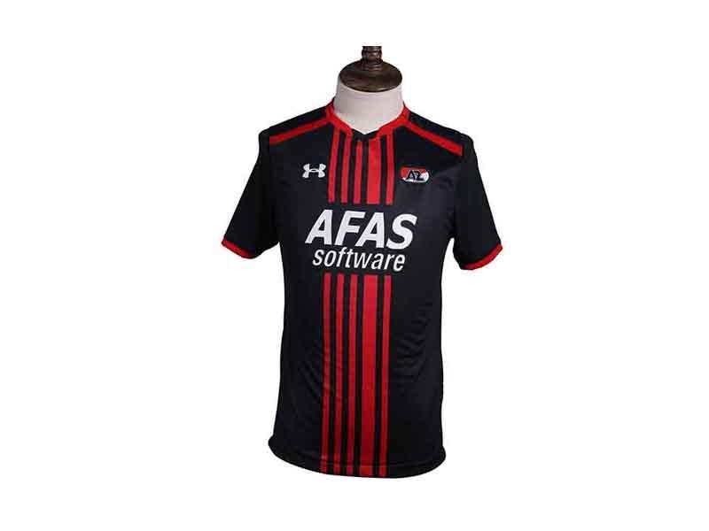 V Shape Collar Short Sleeve Professional Football Team Soccer Clothes, No Fading Football Shirt