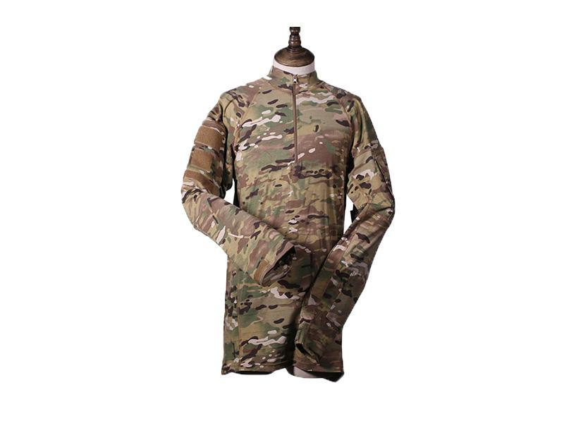 Men's Tactical Combat Shirt Multicam,Camo Shirt Combat Frog Style Tactical Shirt