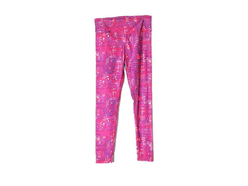 Light Weight Pink Yoga Pants Full Sublimation With Smooth Hand Feelings Yoga Wear