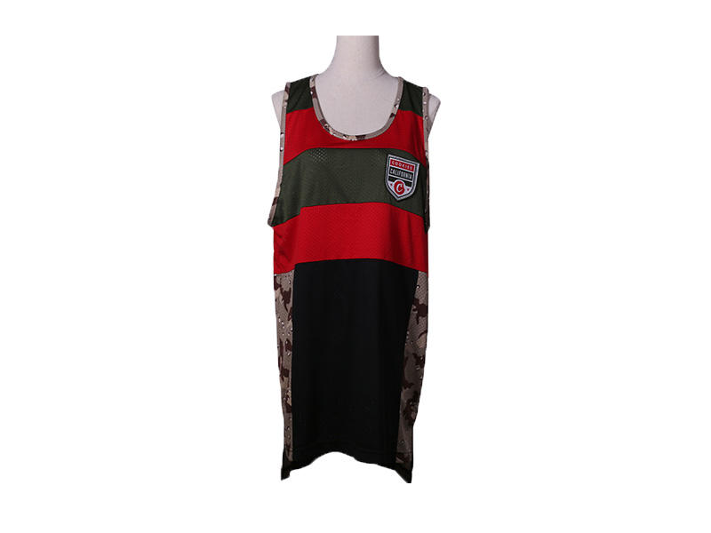 100% Polyester Sleeveless Basketball Shirt, Men Sport Basketball Jersey Basketball Vest