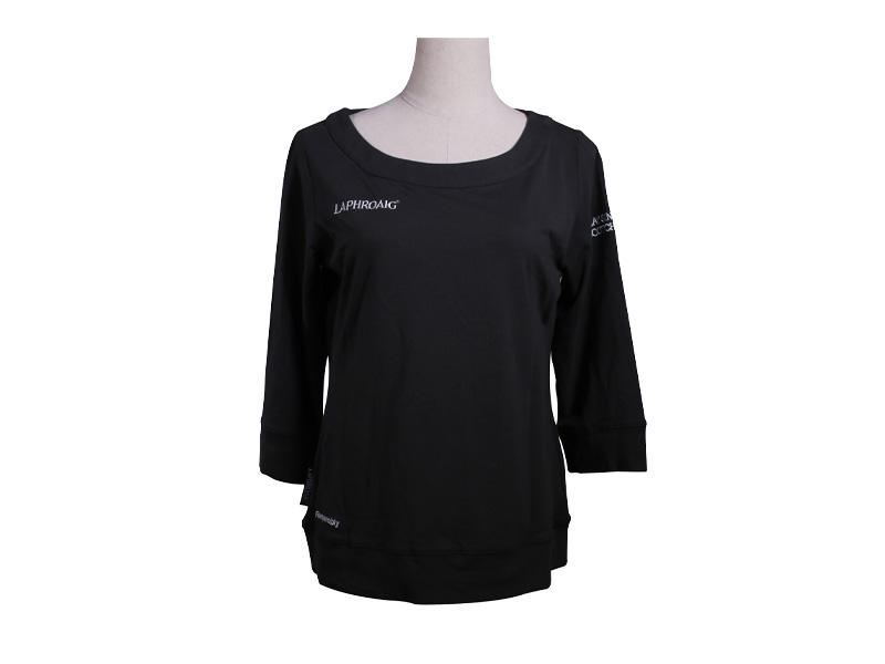 96% Polyester 4% Spandex O Neck Women T Shirt, Short Sleeve Classic Black T Shirt for Women