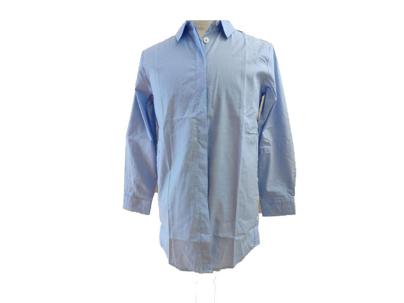 Summer New Fashion Simple Tops Turn Down Collar Shirt for Ladies, Loose Medium Length Shirts Long Sleeves Cotton Women Blouse