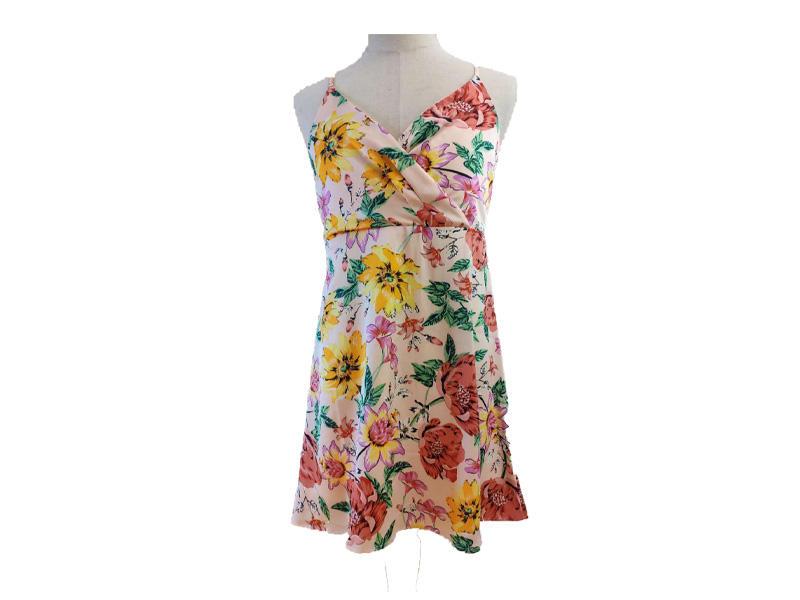 Bohemian Dresses Summer Floral Print Beach Maxi Tie Casual Dress Women, Sleeveless Sexy Camisole Dresses