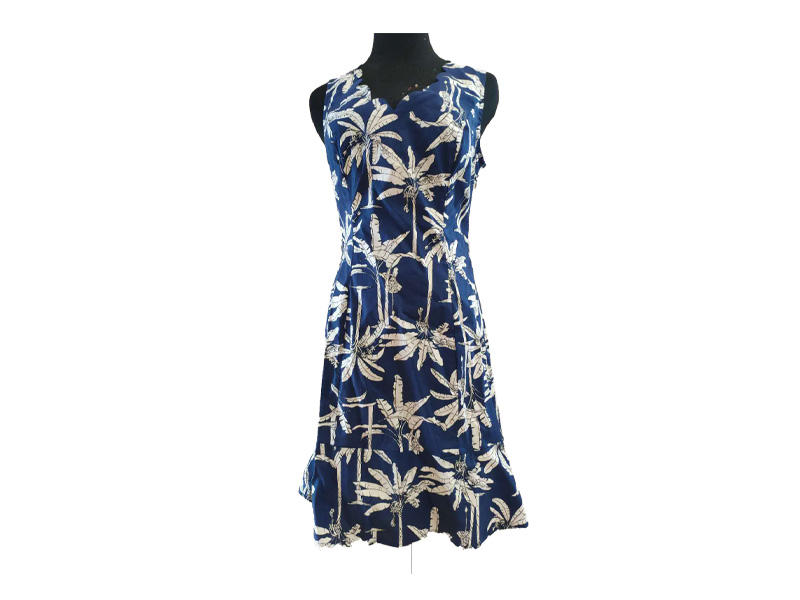 Women Latest Cotton Sleeveless Floral Dresses, Ladies Flounce Hem Summer Casual Wear