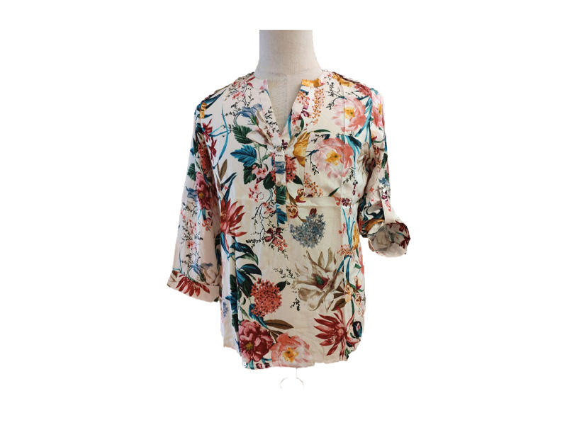 Women Long Sleeve Stain Printed Tops, Ladies Casual Blouse Bodysuit Shirt
