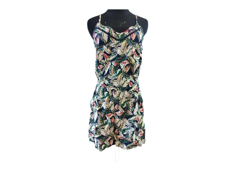 Comfortable Casual Rompers Woman jumpsuits Color Floral Print Women Viscosa Bohemian Summer Casual Wear