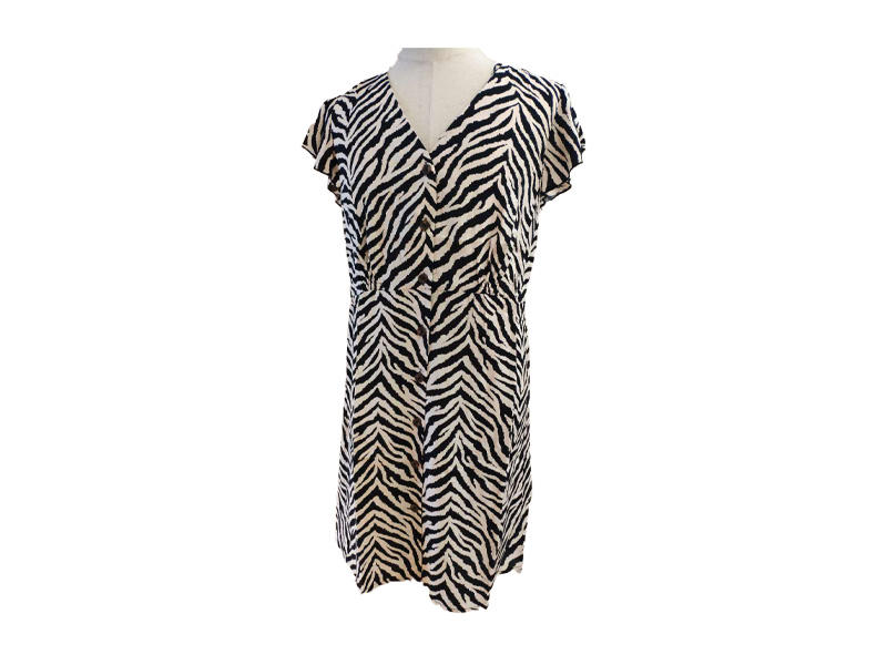 Animal print Women Dress Short Sleeve Summer Plus size Casual Wear