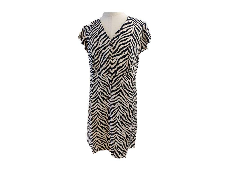 Animal print Women Dress Short Sleeve Summer Plus size Casual Wear
