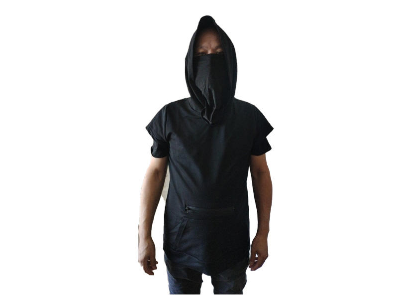 NEW Cotton Short Sleeve Pullover Face Mask T shirt / Jacket For Men with PM2.5 Filter