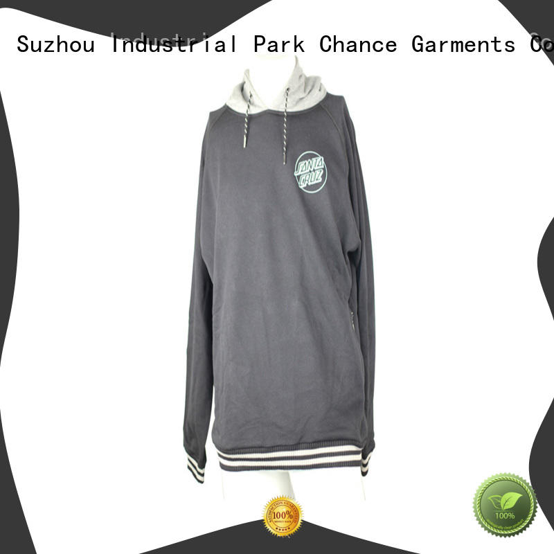 Chance polyester girls hooded sweatshirt factory price for sports
