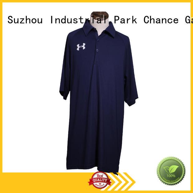 Chance short sleeve polo shirt customized for golf