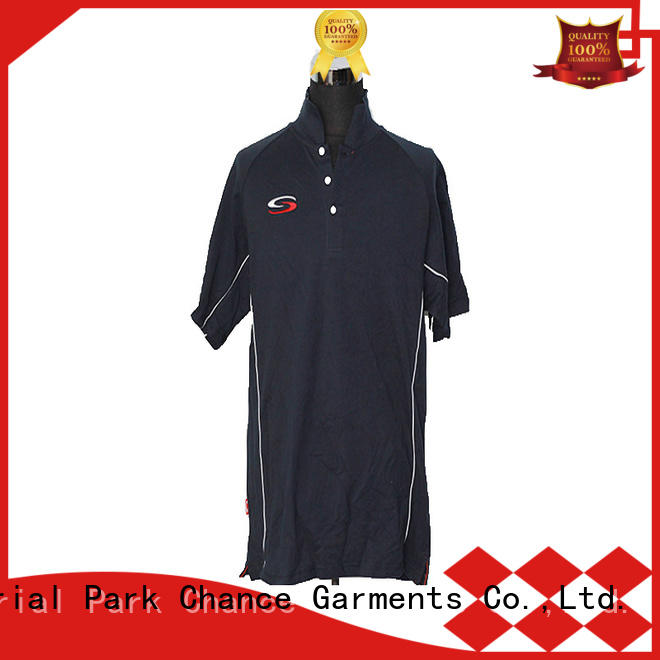 Chance black polo shirt customized for golf