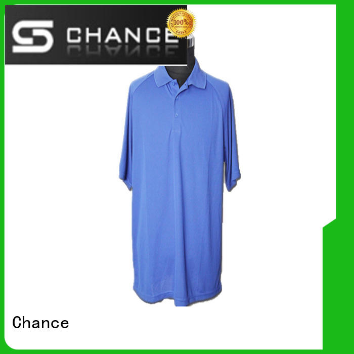 Chance polyester black polo shirt customized for school