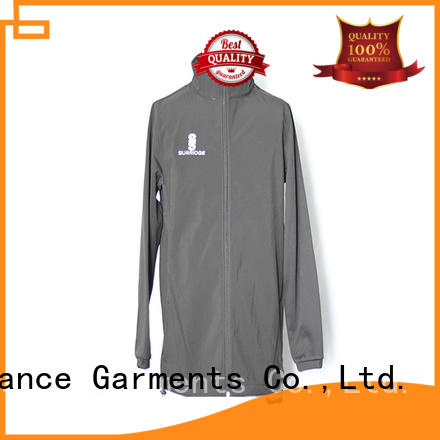 Chance long sleeve nylon jacket customized for winter